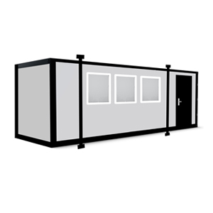 30 x 10 Jackleg Cabin - Portable Cabin with Jacklegs